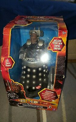 """rare 12"""" doctor who radio controlled davros toy in box"""