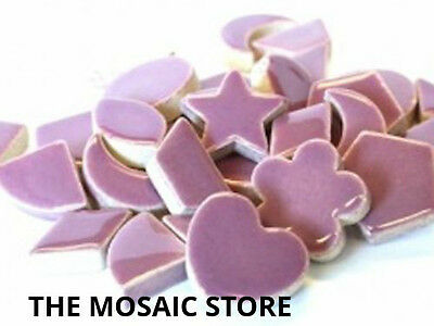 Purple Ceramic Charms / Shapes for Mosaic Art & Craft - Tiles & Supplies