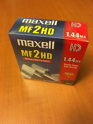 """MAXELL MF2HD - disk/disquette 3""""1/2 - 1.44MB - NEW x10"""