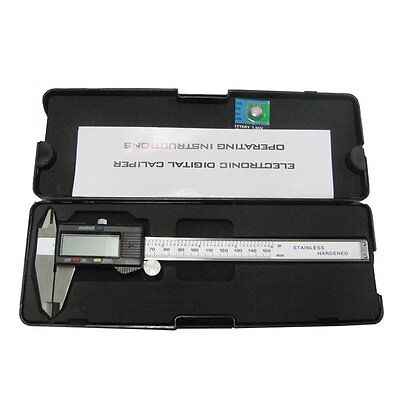 """LCD Digital Caliper Stainless Steel Electronic Micrometer Measuring 0-6""""/150mm"""