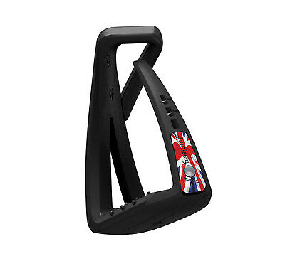 FreeJump Union Jack Stirrups with two pins inc Free pair of Animo socks