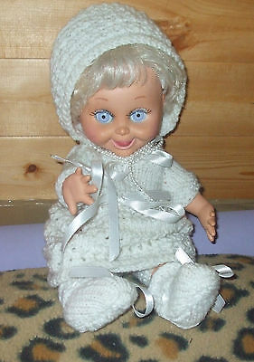 vintage  Galoob Baby face doll # 8 SO DELIGHTFUL DeE DEE ,homemade outfit