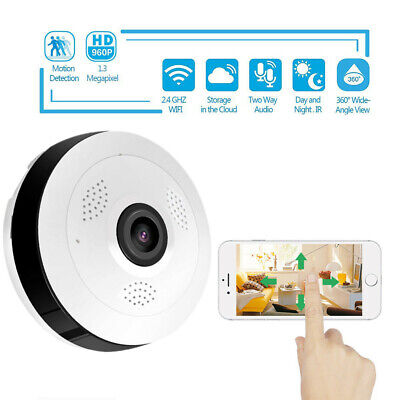 360 Degree Panoramic Smart IP Camera IPC Wireless P2P 960P Security Home Camera