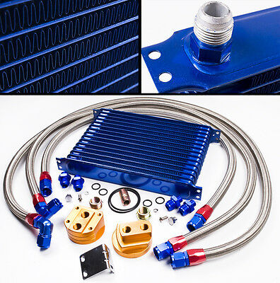 10 Row An10 Oil Cooler Relocation Kit For Nissan S13 S14 S15 Skyline 300Zx 350Z