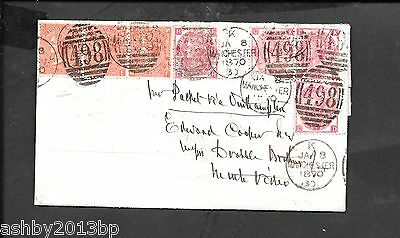 Lancs Destination Mail 1867 Double Rate Entire To Uruguay Sg102/ Sg94. See Descr