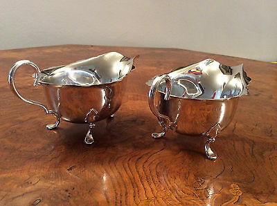 A Pair Of Silver Sauce Boats Made By Henry Clifford Davis In Birmingham 1930
