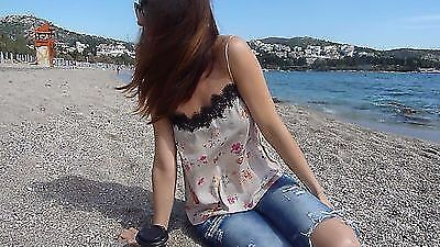 ZARA WOMEN nude pink floral lace STRAPPY TOP CAMISOLE SIZE L REF 7725/853 new
