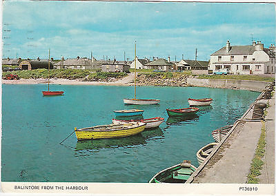 Postcard Balintore From Harbour Near Tain Moray Firth Easter Ross Scotland 1977
