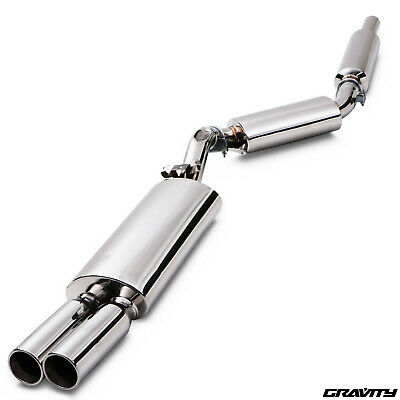 "2.5"" Stainless Cat Back Exhaust System For Vw Golf Mk2 1.6 1.8 Gti G60 8V 16V"