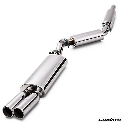 Stainless Steel Cat Back Exhaust System For Vw Golf Mk2 1.6 1.8 Gti G60 8V 16V