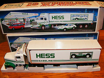 1992 Hess Tractor Trailer And Car- Nib