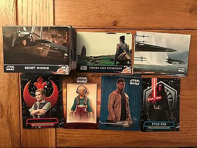2016 Star Wars The Force Awakens Series 2 Set 165 Cards, Includes Short 101,102