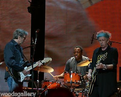Keith Richards & Eric Clapton,  Crossroads 8X10 inch color print - 2nd print!