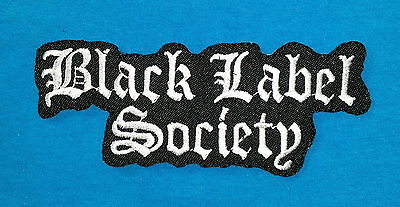 BLACK LABEL SOCIETY  THRASH  BAND Embroidered Sewn On Iron On Patch Free Ship