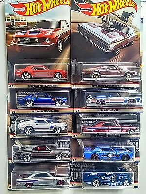2017 Hot Wheels Vintage American Muscle - Complete Set of 10!. Shipping is Free