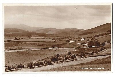 STOBO Tweed Valley, RP Postcard, Holmes Real Photo Series, Postally Used 1958