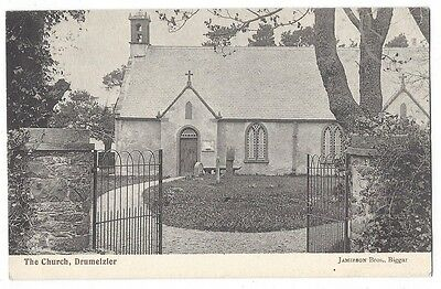 DRUMELZIER The Church, Old Postcard by Jamieson Bros, Unused