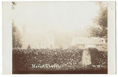 HERIOT The Church, Midlothian, RP Postcard Unused