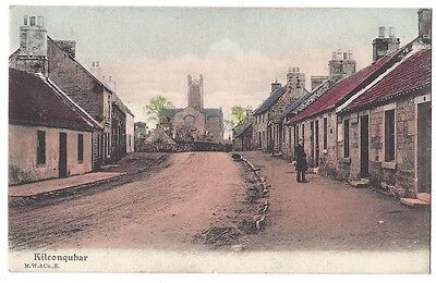 KILCONQUHAR View in the Village, Old Postcard by Wane & Co, Unused