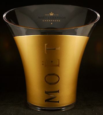 Champagne Moët & Chandon: Ice Bucket, Transparent And Gold Inside, Standard Size