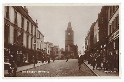 DUMFRIES High Street, RP Postcard by Valentine Postally Used c1931