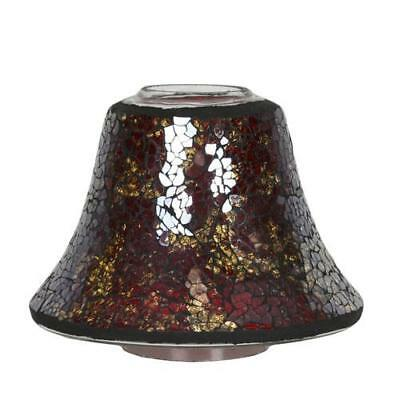Village Candle Red and Gold Lustre Candle Tray FREE P&P