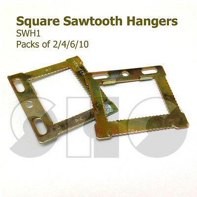 CWH1 Square Sawtooth HANGERS for CANVAS/Frames with hollow backs 2/4/6/10