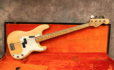 1973 Fender Precision - Blonde - Ohsc - Andy Baxter Bass