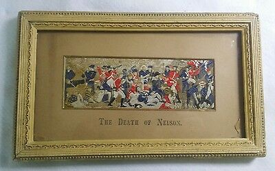 Stevengraph The Death Of Nelson Antique Silk Woven Picture