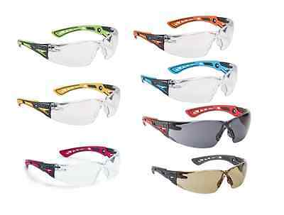 Bolle RUSH+ Plus Safety Glasses Eye Protection - Various Lens Colours 2,5 or 10