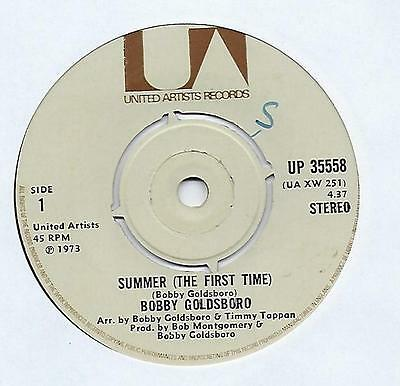 "Bobby Goldsboro - Summer (The First Time) - 7"" Vinyl Record Single"