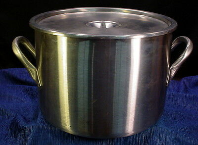Vollrath Commercial 16 Quart NSF Stainless Steel Stock Pot With Lid FREE SHIP