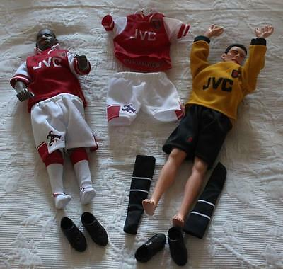 2 X 1997 Corinthian Large Poseable  Figures - ARSENAL - Good Condition!