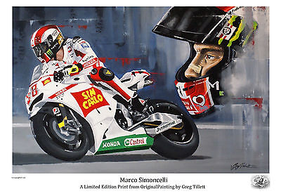 MARCO SIMONCELLI SUPER SIC limited edition print by Greg Tillett MOTOGP