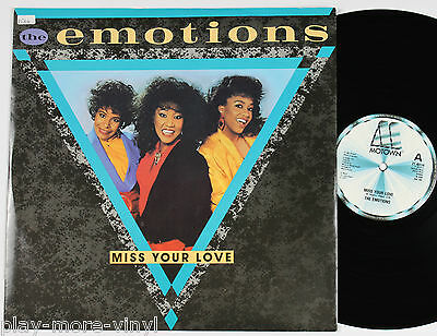 """THE EMOTIONS Miss Your Love 12"""" vinyl UK 1985 Motown plays NM!"""