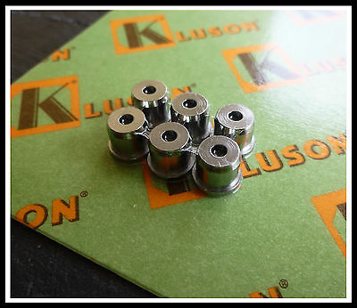 KLUSON Set of six vintage string ferrules for Telecaster - Chrome