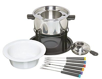 KitchenCraft 3-in-1 Fondue Set  for Chocolate, Meat and Cheese Fondue