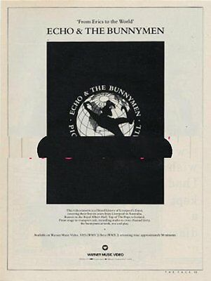 Echo and The Bunnymen 'The Face' advert