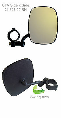 "UTV Mirrors, Universal Roll Bar Mirror, 3/4"" (PVC) clamp, RH"