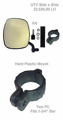 "UTV Mirrors, Universal Roll Bar Mirror, 3/4"" (PVC) clamp, LH"