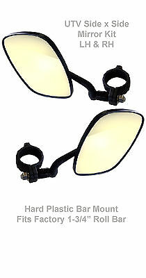 "UTV Mirrors, Universal Roll Bar Mirror, 3/4"" (PVC) clamp, LH&RH Kit"