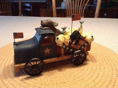 """Puppies & Quilt on Truck - """"Traveling Quilt Show"""" -Williraye- 7887-New in Box"""