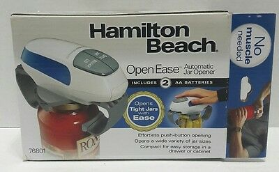 Hamilton Beach Open Ease Automatic Jar Opener No Muscle Needed Push Button Easy