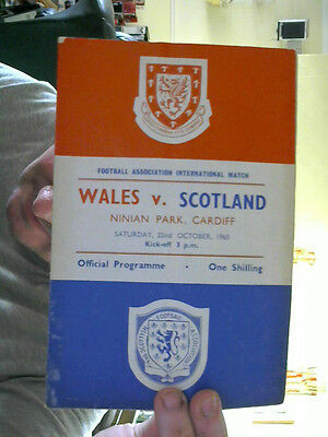 Wales V Scotland Football Programme 22.10.1960  International Championship