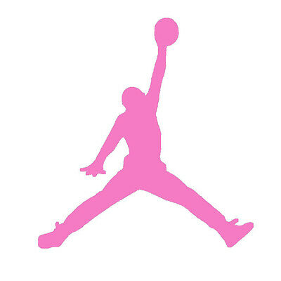 9939fda7736 Pastel Pink Jumpman Logo Vinyl Stickers Baby Shower Jordan Theme Party Favor  Lot