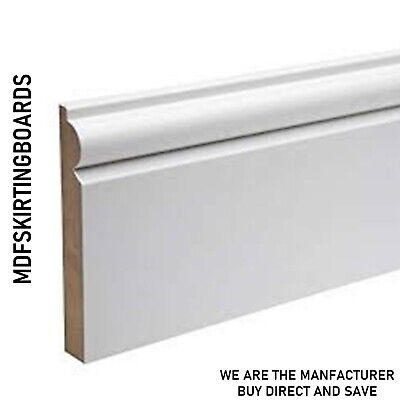 MDF Skirting Board White Primed - 14.5x119mm (5inch) Torus - 4.2M Length (14ft)