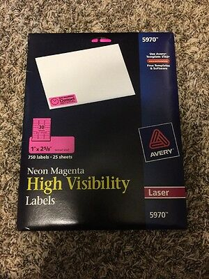 Avery High Visibility Labels 5970