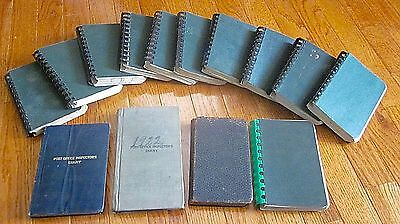 14 Handwritten Post Office Inspector Diaries 1916-1949 St. Joseph MO area