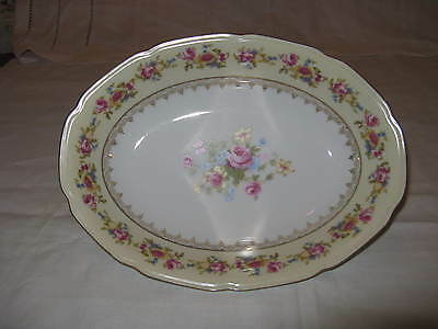 Occupied Japan Gold Castle Small Oval Serving Platter