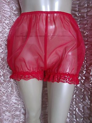 "Vtg Sissy Feminine Nylon Bubble Panties Knickers  32"" -  44""  Max 50"""
